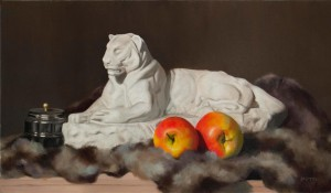 Panther. Still life painting by Kesavan Potti.